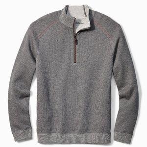 Tommy Bahama Gray Flipsider Reversible Sweatshirt
